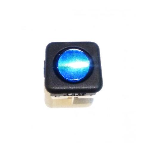 RO-Interruptor Azul 25x25mm 230V Tecla Redonda