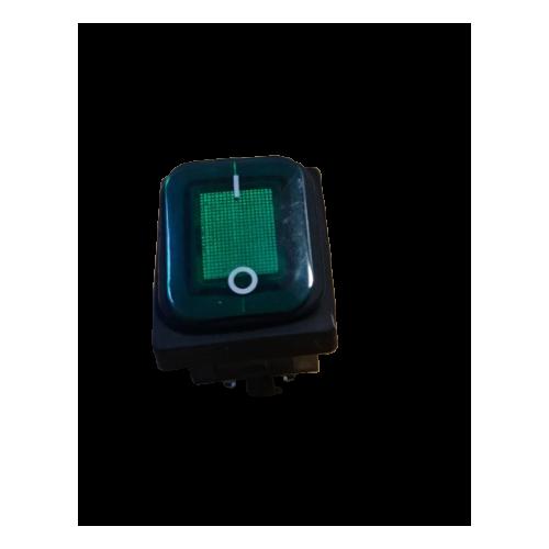 RO-Interruptor Verde 30x22mm 230V 10A