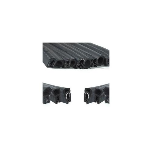 RO-Burlete 17x10mm Perfil Caucho Negro (1m)