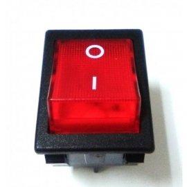 RO-Interruptor Rojo Verde 30x22mm 230V Bipolar