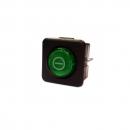 RO-Interruptor Verde 25x25mm 230V Bipolar