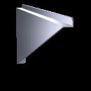 RO-Cartela recta de 265x200 mm. Mano izquierda.