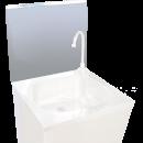 RO-Peto postizo liso para acoplar a lavamanos de 450 mm. Dimensiones: 453x400 mm.