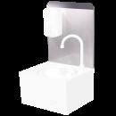 RO-Peto postizo liso para acoplar a lavamanos de 350 mm. Dimensiones: 351x400 mm.