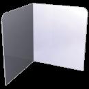 RO-Peto postizo liso para acoplar a lavamanos de esquina de 350 mm. Dimensiones: 350x350x400 mm.