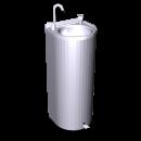 RO-Fuente de agua de columna con pedal 350x300x850 mm.