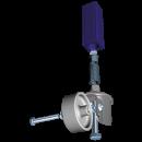 RO-Kit para acoplamiento rueda-pata de 40x40 mm. ø24,8 a ø28,7 mm.