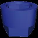 RO-Funda silentblock azul para taco regulable de 40x40 mm.