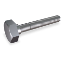 RO-Tornillo cabeza hexagonal rosca métrica M5x8 mm. DIN 933 A2 (x100)