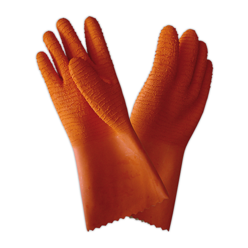 RO-Guante alimentario anticorte pescadero (par), talla única Látex natural crépé.